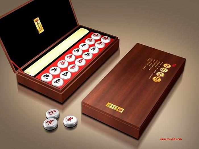 礼品陶瓷象棋包装设计