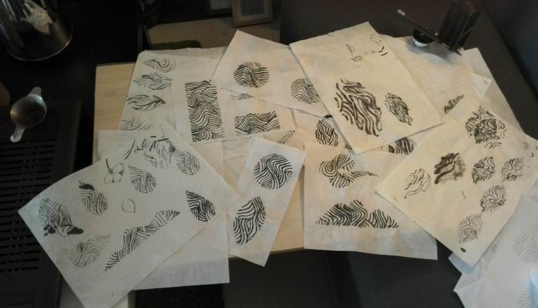手绘茶图形