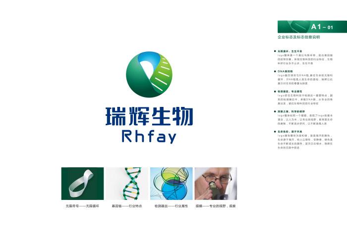 生物品牌VI设计—高端生物科技品牌标志设计-高档科技品牌文化梳理